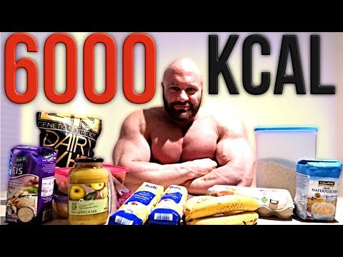 Bodybuilder isst 6000 Kcal pro Tag. Clean!