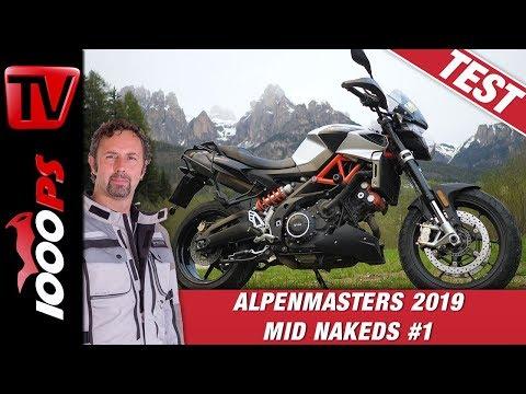 Aprilia Shiver 900 im Alpenmasters Test - Vergleich - Naked Bike Mittelklasse 1/4