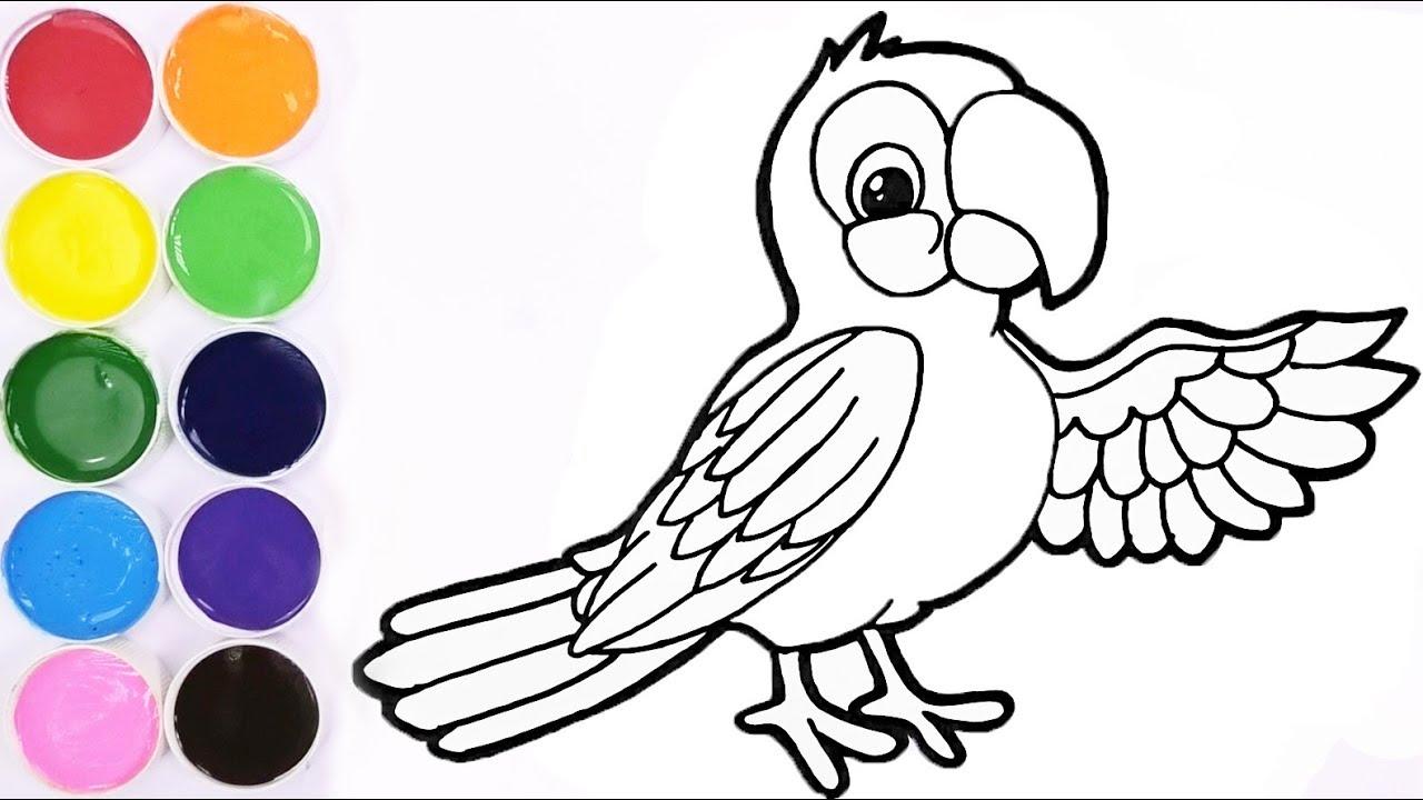 Dibujando Y Coloreando Para Ninos Aprende Colores Pintando Un