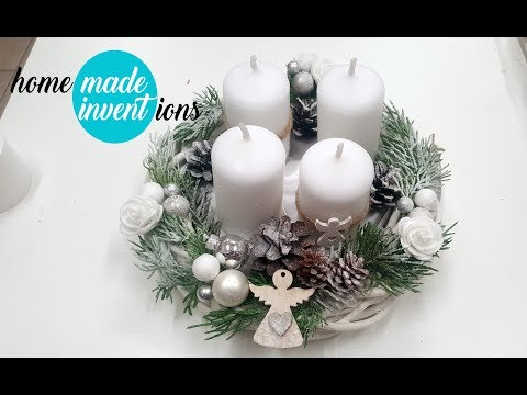 Winter Crafts:  Advent Wreath #25 - Homemade Inventions