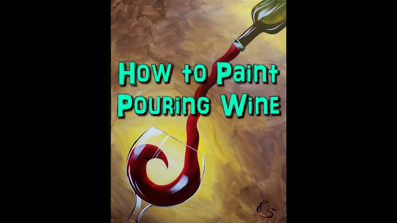 How to Paint Red Wine  Step by Step Acrylic Painting on Canvas for Beginners  YouTube