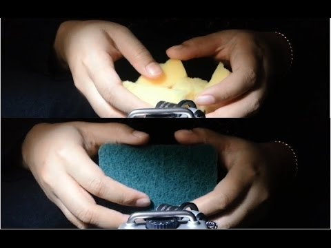 [ASMR] INTENSE Scratching and Destroying Sponges