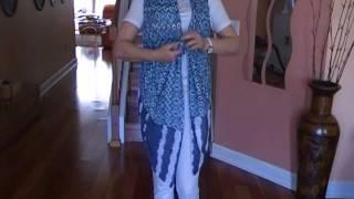 Простая идея одежды -жилетка, блузка ,шарф.