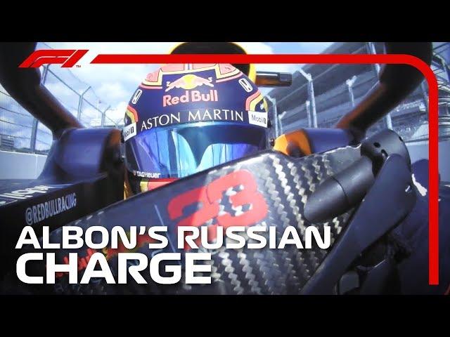 Alexander Albon's Charge Through The Field | 2019 Russian Grand Prix