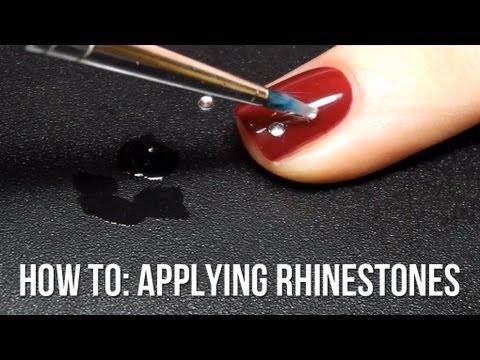 Applying Rhinestones To Your Nail Art Youtube