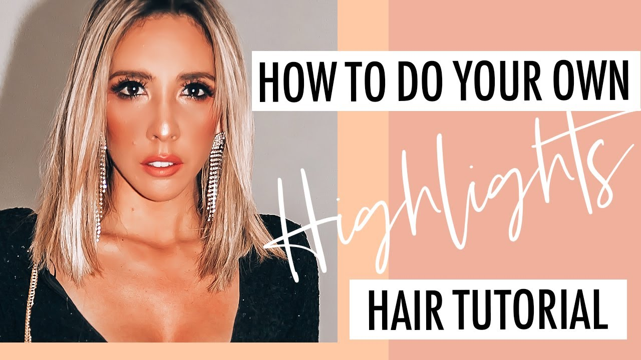 Diy How To Highlight Hair At Home Using A Cap Brown Hair With Blonde Highlights Tutorial
