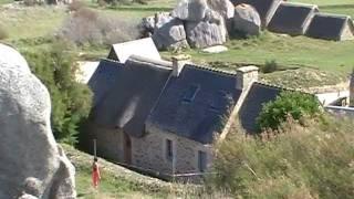 Bretagne,Meneham  ancien village de paysans pécheurs goémoniers