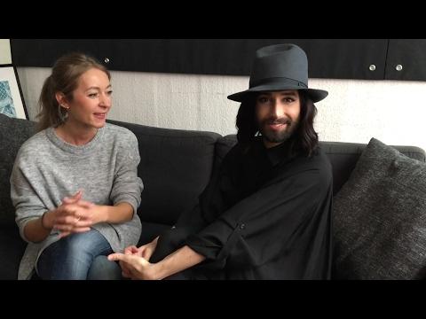 Interview mit Conchita Wurst kurz vor Beginn des 12. SemperOpernballs in Dresden