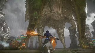 Monster Hunter Online - S Challenges Yama Tsukami Party 8 Player No UI Gameplay
