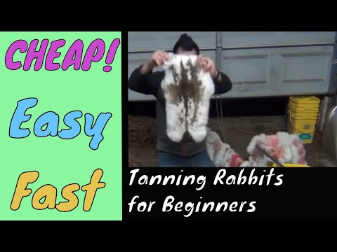Tanning Rabbit Hide FAST And EASY