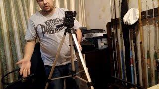 Штатив Continent A1,бюджетный вариант для видео и фото съемки,полезная вещь для начинающего блогера.
