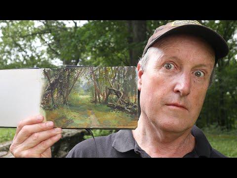 painting-a-weird-forest-in-gouache