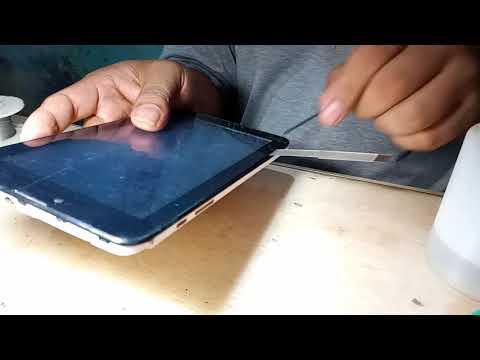 Cara buka touchscreen tab advan S7