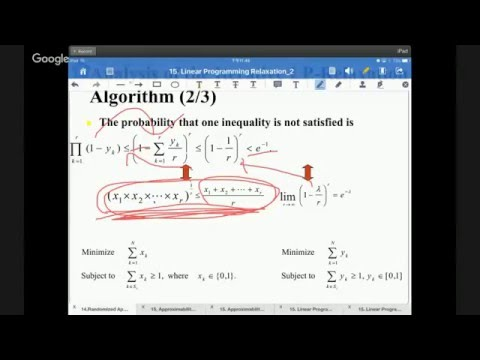 20151217 Computer Algorithms-Linear Programming Relaxation  Part III