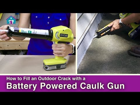 How to Use a Battery Powered Caulk Gun