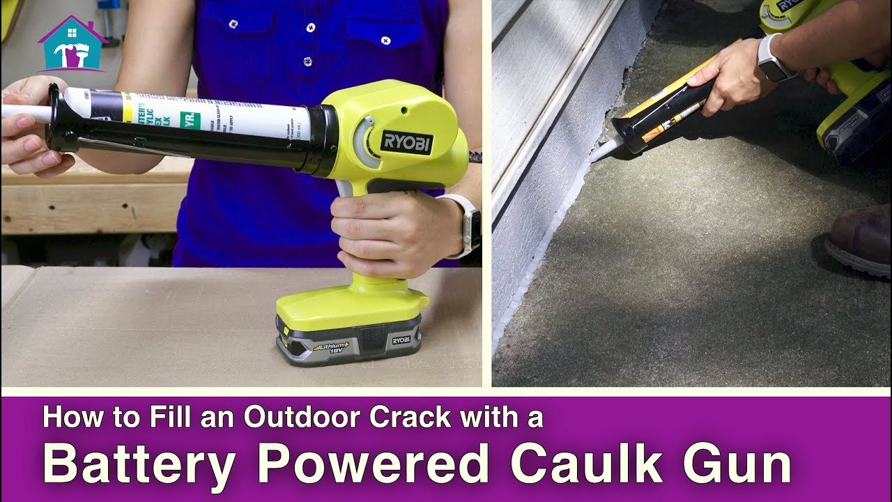 how to use a battery powered caulk gun youtube. Black Bedroom Furniture Sets. Home Design Ideas