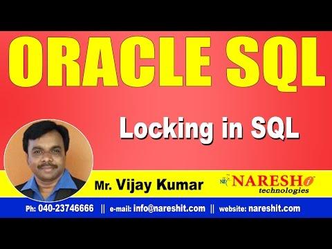 Locking in Oracle | Oracle SQL Tutorial Videos | Mr.Vijay Kumar