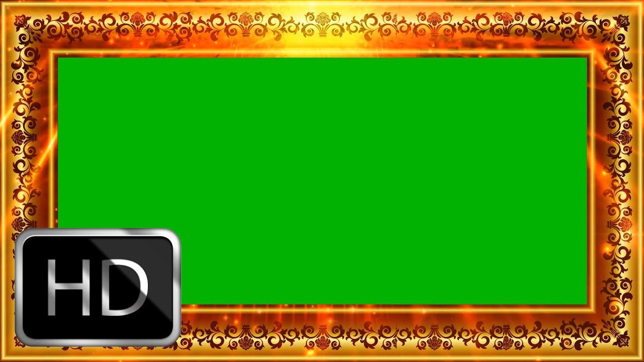 Wedding Frame Motion Background Video-Free Green Screen