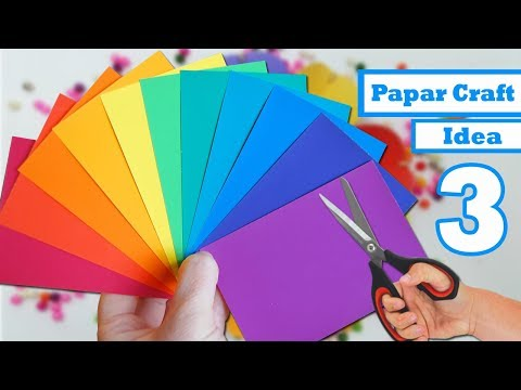 3 paper craft ideas for room decoration | decoration ideas with paper | diy room decor with paper