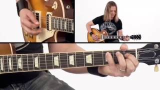 Rock Rhythm Guitar Lesson - #27 Classic Hard Rock Performance - Survival Guide - Angus Clark