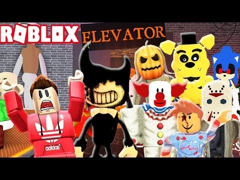 SCARY HALLOWEEN HORROR ELEVATOR IN ROBLOX!