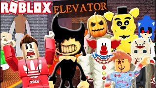SCARY HALLOWEEN HORROR ELEVATOR IN ROBLOX!