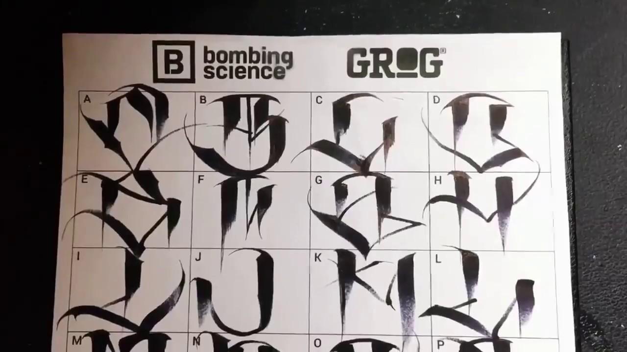 The Alphabet I Gang Writing I Gang Letters I Graffiti I Handstyle