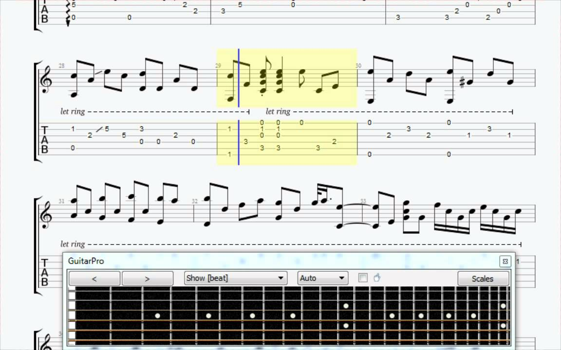 Yesterday Fingerstyle Guitar tab - YouTube