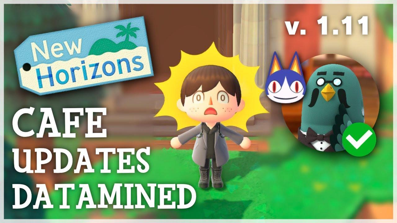 Animal Crossing New Horizons - CAFE UPDATES DATAMINED (1.11 Update Datamine)