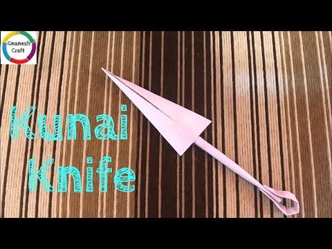 How to make a origami kunai knife naruto