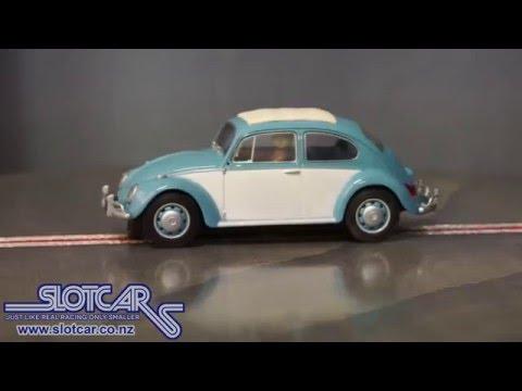 Scalextric Slot Car VW Volkswagen Beetle Blue White DPR Slotcar C3204