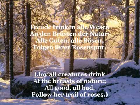 Ode an die Freude - Song Of Joy (with German lyrics & English translation)