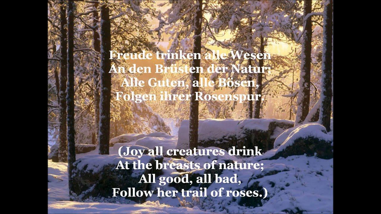 ode die freude song joy german lyrics english translation youtube