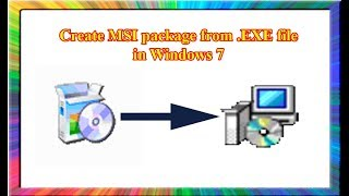 create msi from an exe file