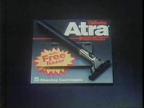 COMMERCIAL Gillette - Atra razor (1980) - YouTube