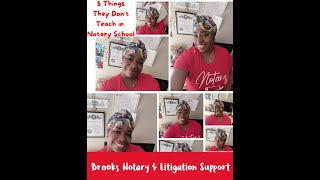 5 Things They Don't Teach You In Notary School