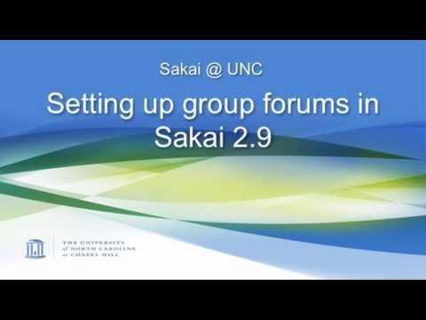 Sakai 2.9: Setting up group forums permissions in Sakai 2.9