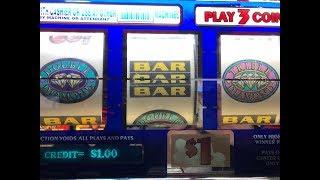 Slot Big Win - Triple Double Diamond $1 Slot Machine - Max bet $3 [女子スロット] [スロットライブ] [カリフォルニア] [カジノ]