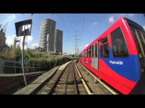 DLR Beckton to Tower Gateway (Front Seat 4K POV)