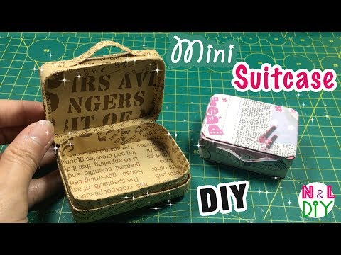DIY Miniature Suitcases | How to make a Suitcase for Doll