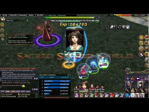 Atlantica Online - Avalon Run 3f Merlin fight + Grind