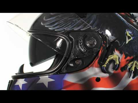 ST-1150 Hawk U.S. Flag And Eagle Graphics Full Face Motorcycle Helmet At LeatherUp.com