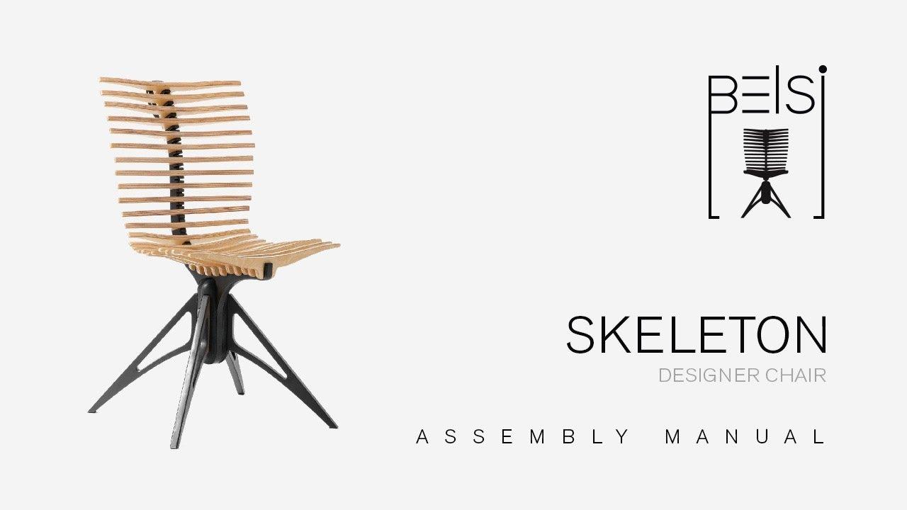 skeleton designer chair assembly manual youtube