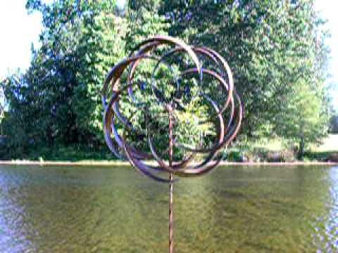 Garden Wind Spinner   Plow U0026 Hearth   YouTube