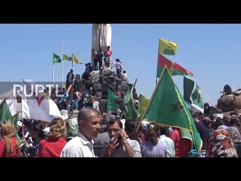 Syria: Kurds rally in Kobane against 'criminal' Turkish airstrikes on Kurdish fighters
