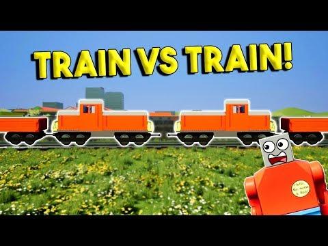 LEGO TRAIN VS TRAIN CRASH! - Brick Rigs Gameplay Challenge & Creations