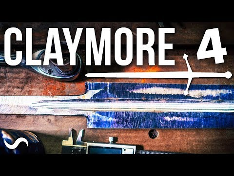 MAKING A SCOTTISH CLAYMORE SWORD!!! PART 4