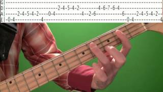 Bass Guitar Lessons - Rockabilly Blues Bassline with Tabs