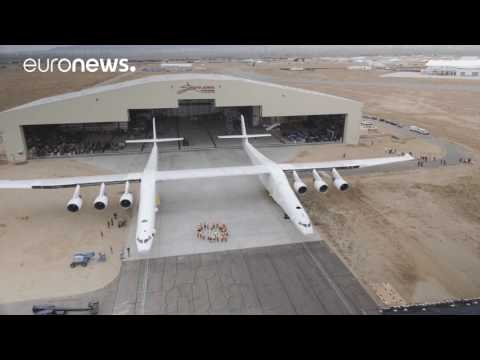 The world's largest aircraft rolls out of the hangar
