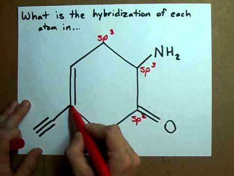 What Is The Hybridization Of Each Atom In This Molecule Youtube